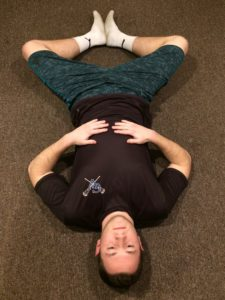 picture demonstrating adductor muscle or groin stretch